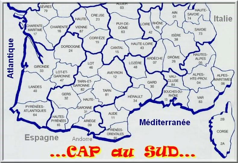 carte de france sud images